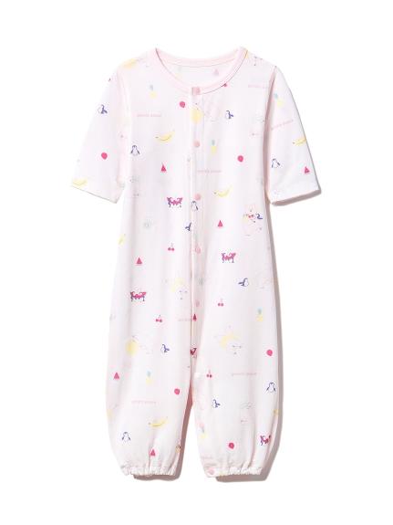【BABY】【新生児】シロクマフルーツ2wayオール(PNK-50)