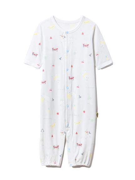 【BABY】【新生児】シロクマフルーツ2wayオール(BLU-50)