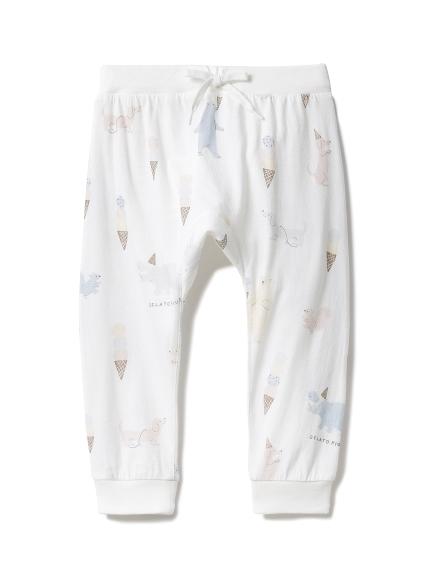 【BABY】アイスクリームアニマル baby ロングパンツ(OWHT-70)