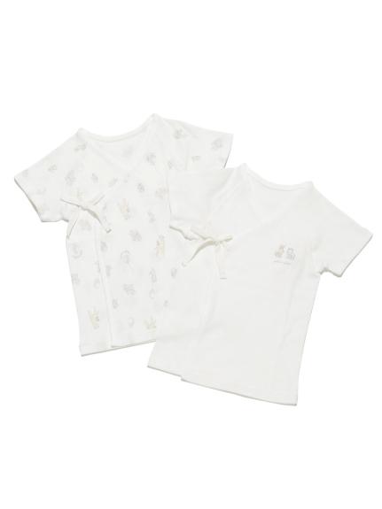 【BABY】【新生児】アニマルバルーン短肌着セット(OWHT-50)