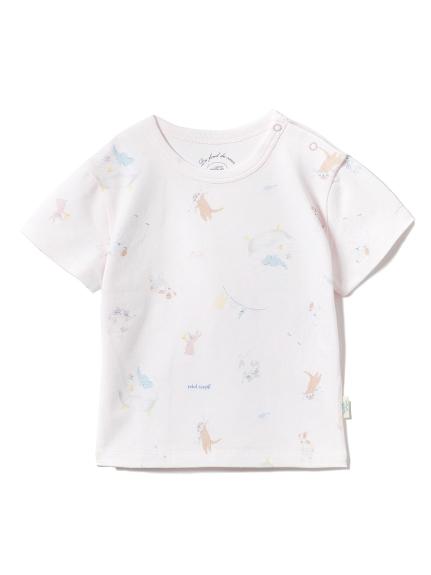 【BABY】アニマルバスタイムbabyTシャツ
