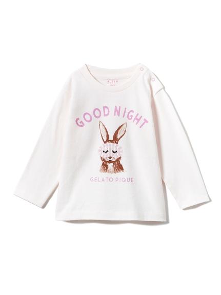 【BABY】アニマルアイマスクワンポイントbabyTシャツ