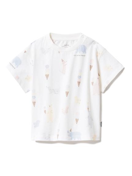 【BABY】アイスクリームアニマル baby Tシャツ(OWHT-70)