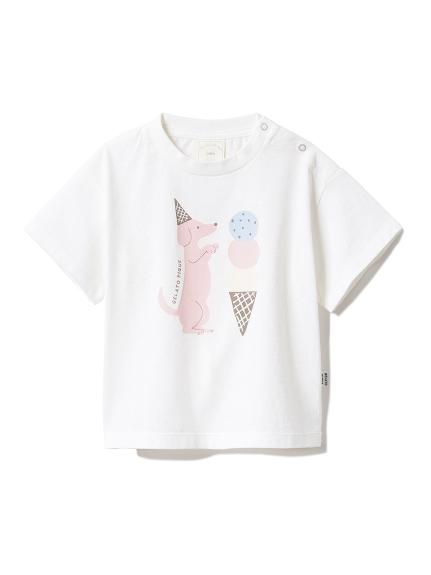 【BABY】アイスクリームアニマルワンポイント baby Tシャツ