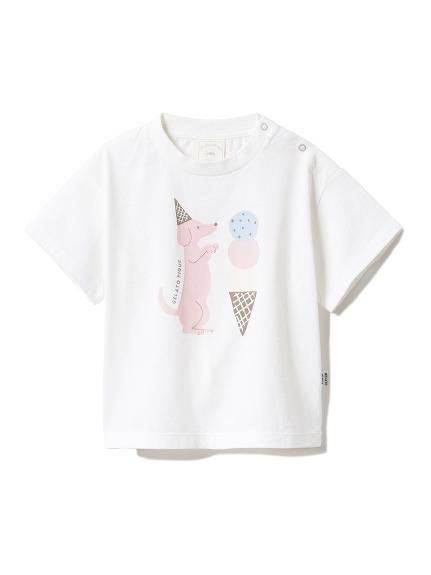 【BABY】アイスクリームアニマルワンポイント baby Tシャツ(OWHT-70)