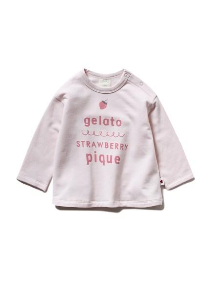 【BABY】ストロベリーロゴワンポイント baby Tシャツ
