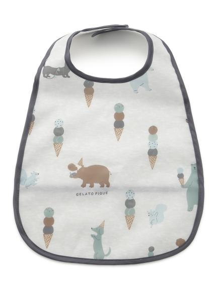 【BABY】アイスクリームアニマル baby お食事スタイ