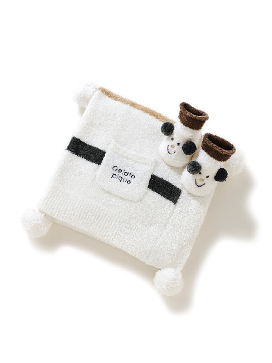 【ラッピング】babyスムーズィーブランケット&ソックスSET(OWHT-F)