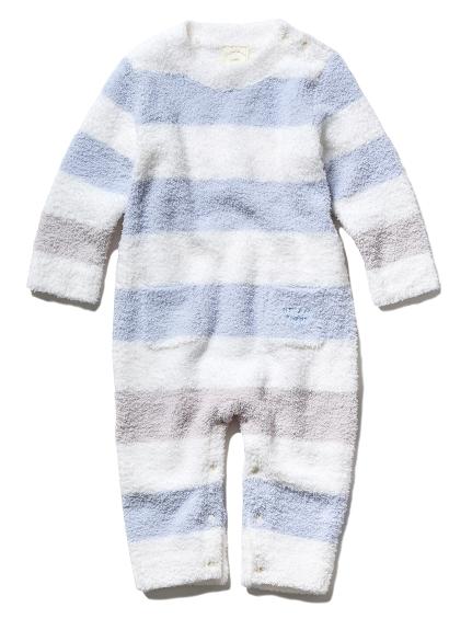 【BABY】'ベビモコ'ボーダー baby ロンパース