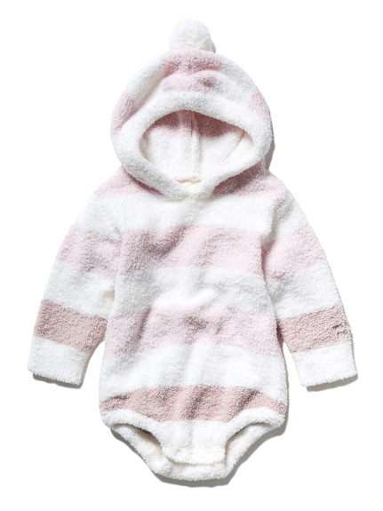 【BABY】'ベビモコ'ボーダー baby ブルマロンパース