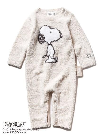 【BABY】【PEANUTS】'ベビモコ'ジャガード baby ロンパース