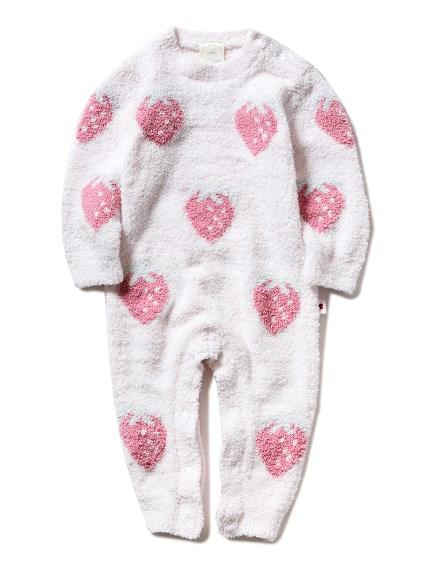 【BABY】'パウダー'ストロベリージャガード baby ロンパース