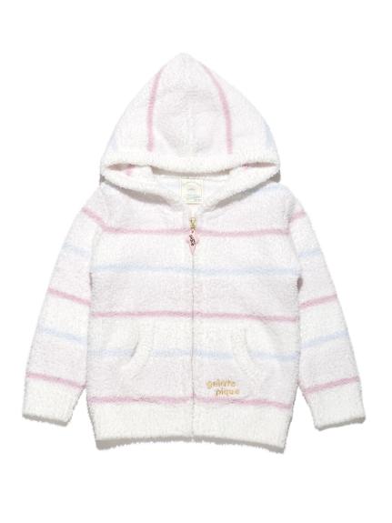 【BABY】'ベビモコ'4ボーダー baby パーカ