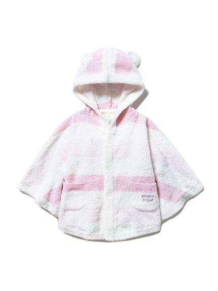 【BABY】'スムーズィー'グラデーションボーダー baby ポンチョ(PNK-70)