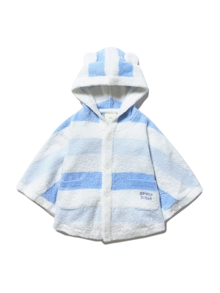 【BABY】'スムーズィー'グラデーションボーダー baby ポンチョ(BLU-70)