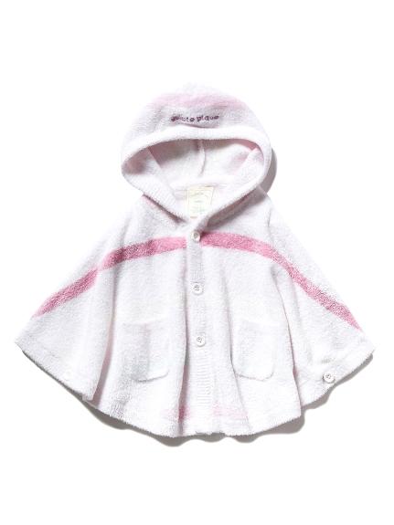 【BABY】'スムーズィー'5ボーダー baby ポンチョ(PNK-70)