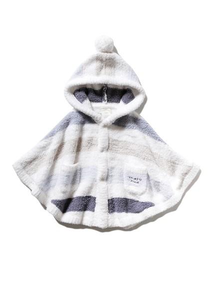 【BABY】'パウダー'5ボーダー baby ポンチョ(BLU-70)