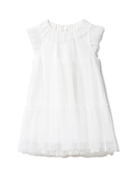 【KIDS】スカラップチュール kids ドレス