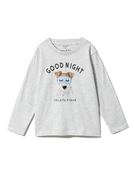 【KIDS】アニマルアイマスクワンポイントkidsTシャツ