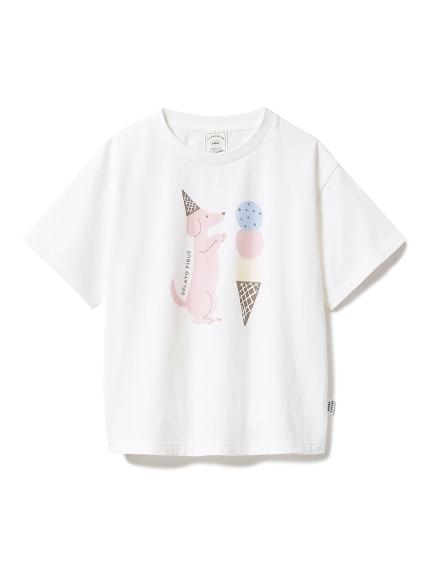 【KIDS】アイスクリームアニマルワンポイント kids Tシャツ(OWHT-XXS)