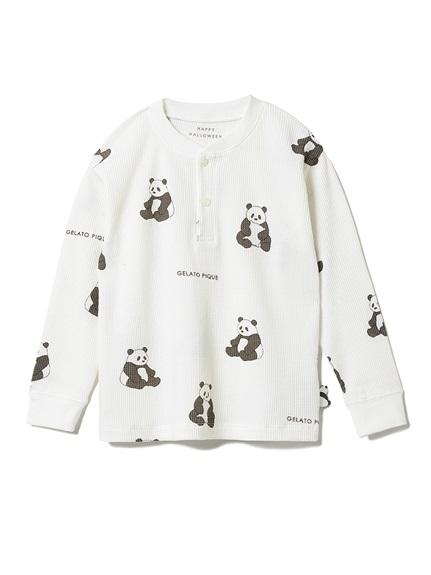 【HALLOWEEN限定】パンダ kids ワッフルプルオーバー