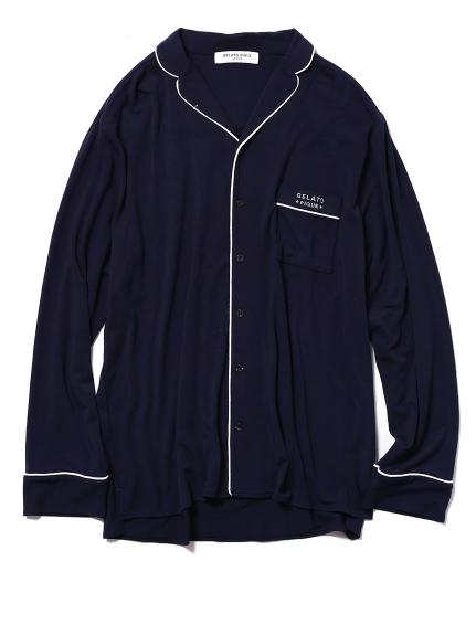 【GELATO PIQUE HOMME】モダールパイピングシャツ
