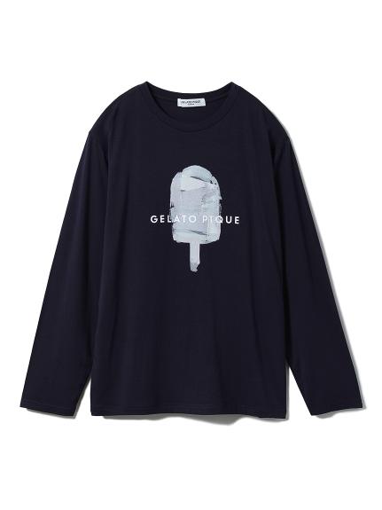 【GELATOPIQUEHOMME】レーヨンロゴプルオーバー(NVY-M)