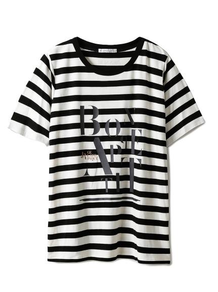 【JoelRobuchon&gelatopique】HOMMEシルクロゴTシャツ(BLK-M)