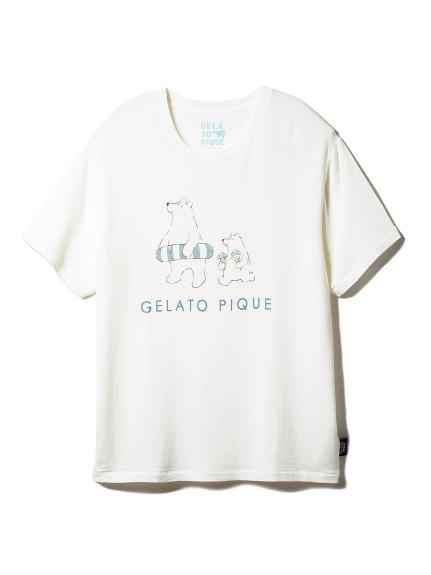【シロクマフェア】HOMME ワンポイント冷感Tシャツ