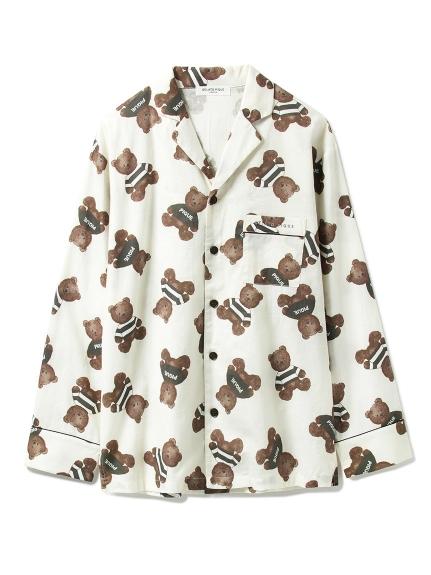 【GELATO PIQUE HOMME】テディベアガラパジャマシャツ
