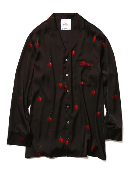 【Joel Robuchon & gelato pique】HOMMEチェリーサテンシャツ