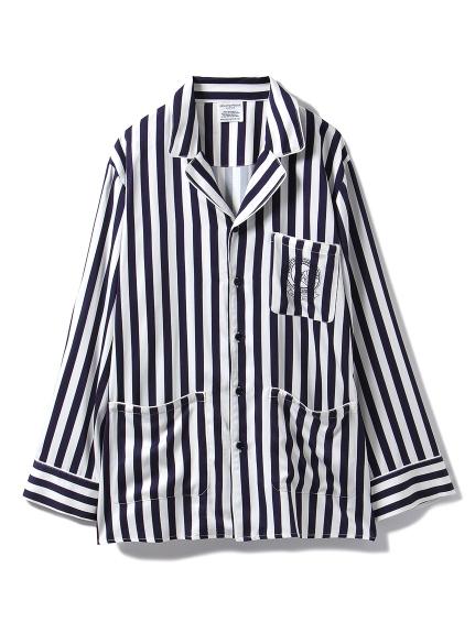 【GELATO PIQUE HOMME】アニバーサリーストライプサテンシャツ
