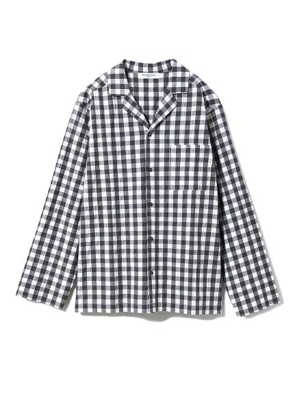 【GELATOPIQUEHOMME】ギンガムチェックシャツ(GRY-M)