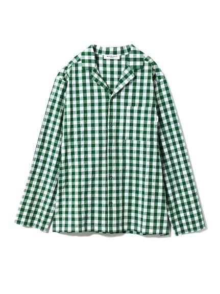 【GELATOPIQUEHOMME】ギンガムチェックシャツ(GRN-M)