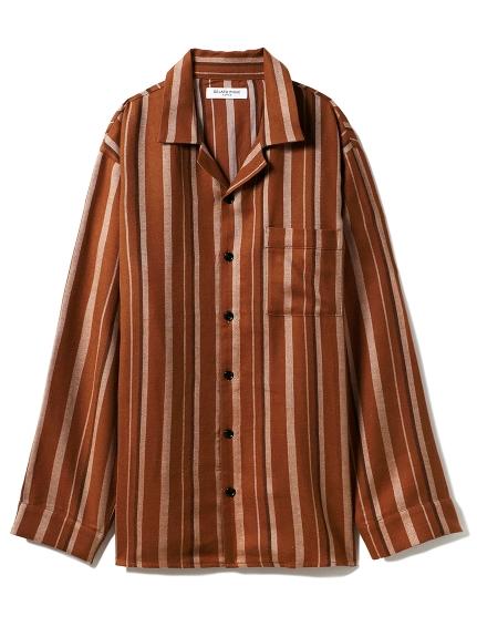 【GELATO PIQUE HOMME】ストライプシャツ(BRW-M)