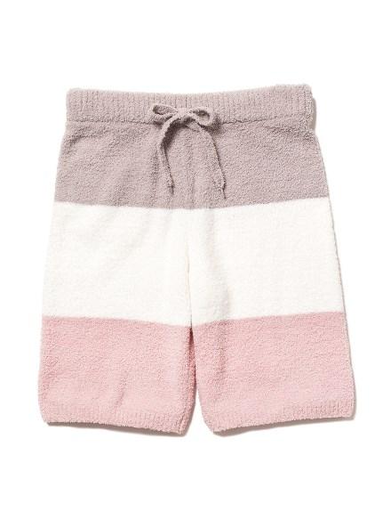 【GELATO PIQUE HOMME】'ベビモコ'3ボーダーサガラ刺繍ハーフパンツ(GRY-M)