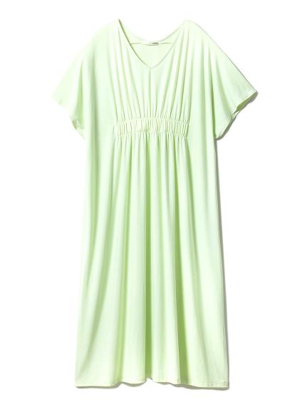 グリーンミントシャーリングドレス