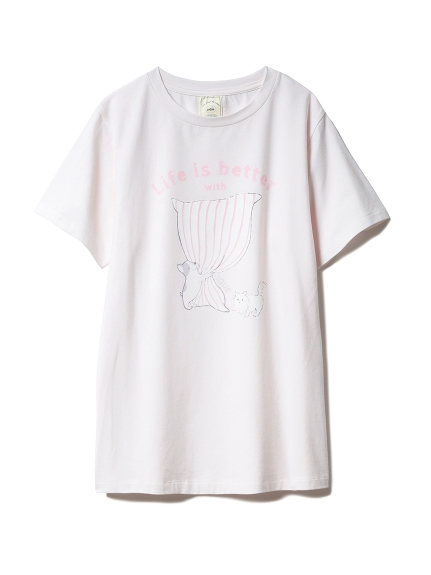 アニマルピローワンポイントTシャツ(PNK-F)