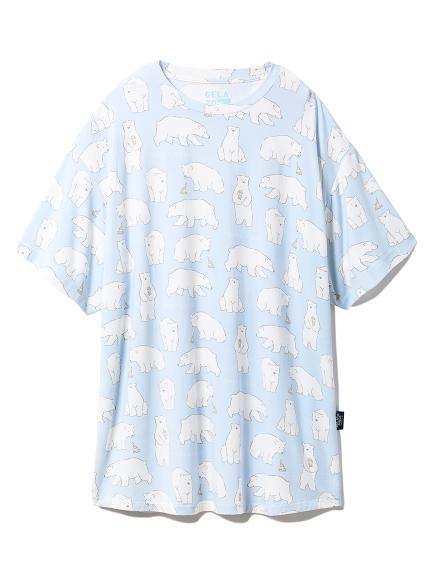 【シロクマフェア】冷感Tシャツ(BLU-F)