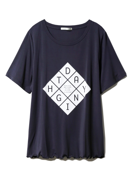 レーヨンロゴTシャツ(DGRY-F)