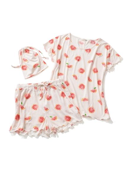 【ONLINE 限定】ピンクグレープフルーツTシャツ&ショートパンツ&巾着SET