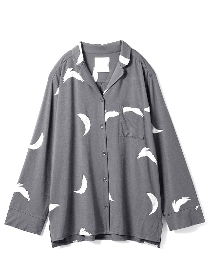 【TSUKI】月モチーフシャツ