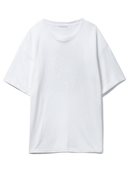 【Joel Robuchon & gelato pique】smile cotton ロゴTシャツ
