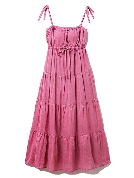 リゾートガーゼティアードドレス
