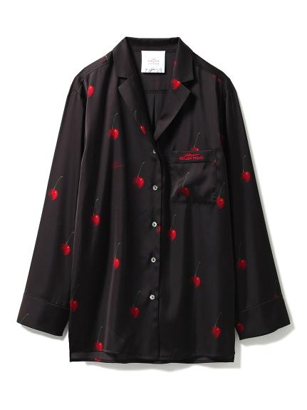 【Joel Robuchon & gelato pique】チェリーサテンシャツ(BLK-F)