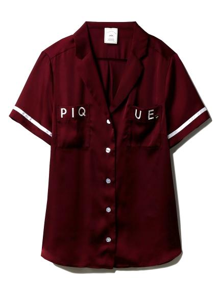 サテンロゴシャツ(WINE-F)