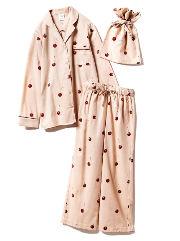 【ONLINE 限定】チェリーシャツ&ロングパンツ&巾着SET