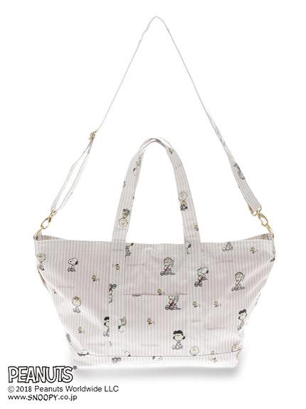 【PEANUTS】ストライプママバッグ