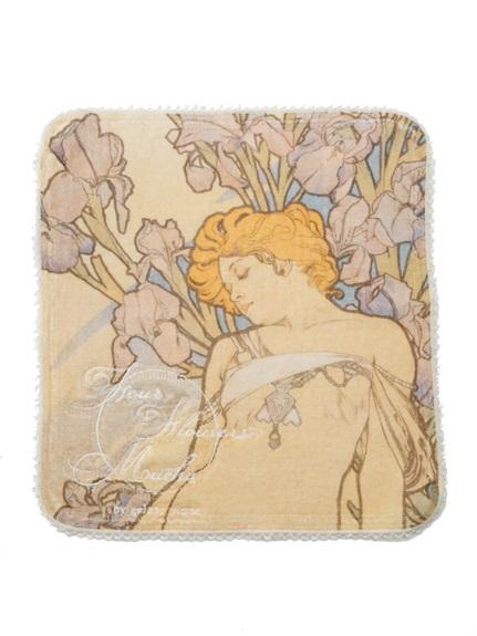 【ミュシャと四つの花】ハンドタオル