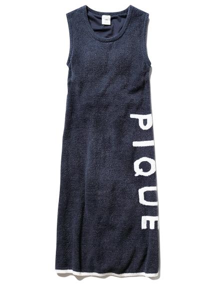 'スムーズィー'ロゴジャガードドレス